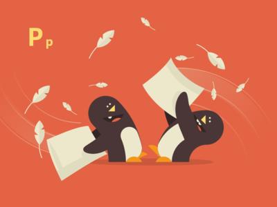 Pillow Fighting Penguins