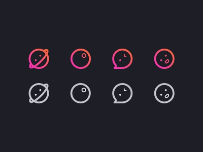 DARK MODE ICONS logo set flat ui mobile app vector design android ios icon design dark mode icon