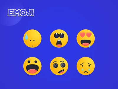 EMOJI emoji set design illustration colorful cry cool glad happy like love amazed sorry sorrow sad emoji