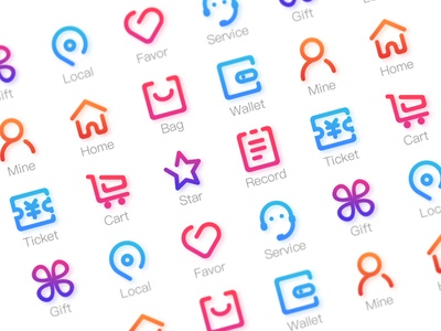 Online Store Icons vector ui set logo illustration icons icon flat design colorful color branding app
