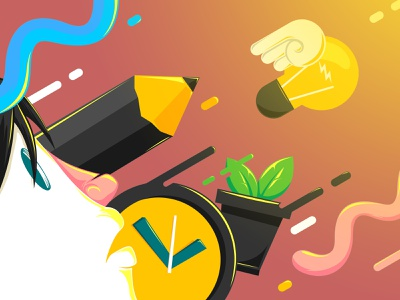 Catch The Light vector animation design illustration