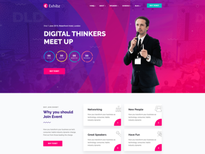 EVENT CONFERENCE - WordPress Website Template Design