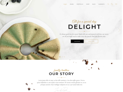 PASTRY AND CAKE - WordPress Website template Design