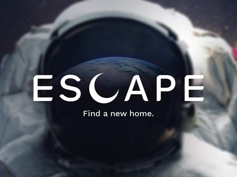 Escape – Find a new home. logotype branding design logo branding