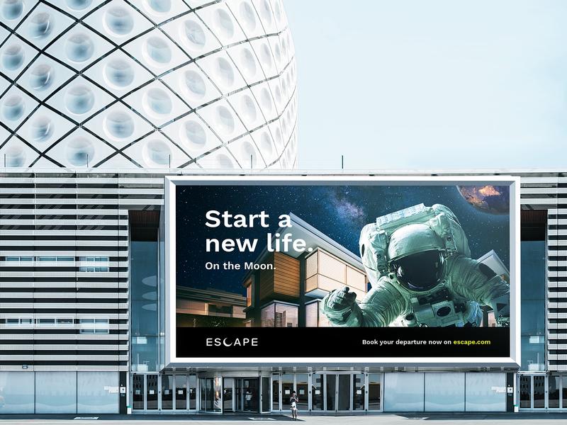 Escape – Find a new home. logo design logo advertising brand design branding