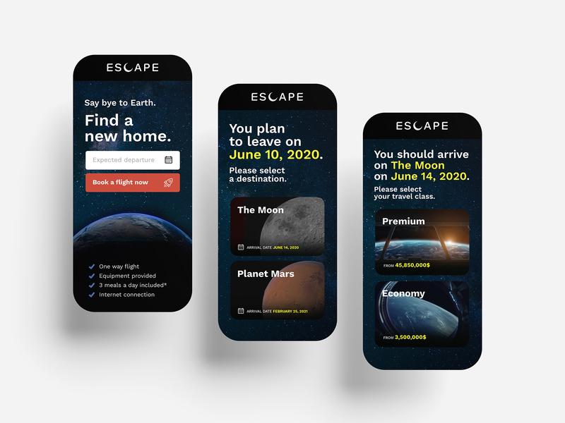 Escape – Find a new home. uidesign ui brand identity brand design logodesign branding logo