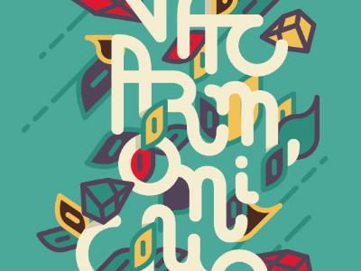 Vacarmonique illustration vector type font hand letters lettering
