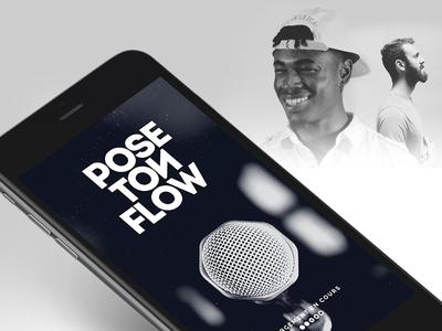 Pose Ton Flow – App Design branding hip-hop rap android iphone app design ux ui
