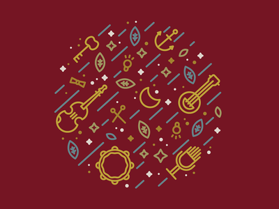 Cosmic folk folk music tshirt lettering type fashion illustrator vector illustration