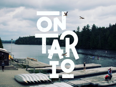 Ontario logotype photography typography font lettering