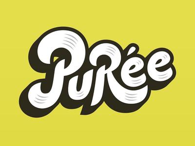 Puree logotype illustration typography font lettering