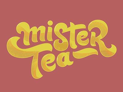 Mister Tea handlettering logotype typography font lettering