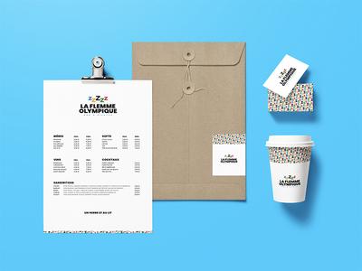 La Flemme Olympique art direction brand identity logotype graphic design branding identity