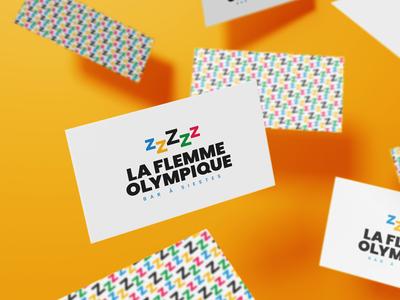 La Flemme Olympique logotype identity graphic design branding brand identity art direction