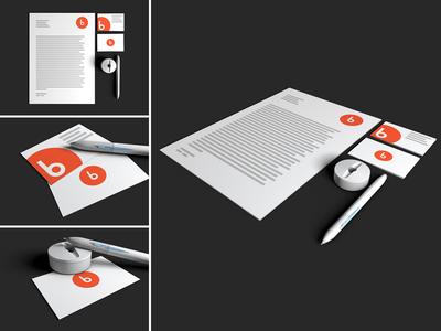 Free Stationery Mock-up for designers or illustrators