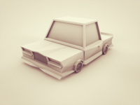Old Car Low Poly model