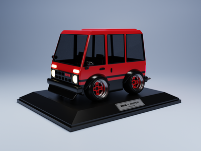 #1 Kevin from Nightride render art 3d cars