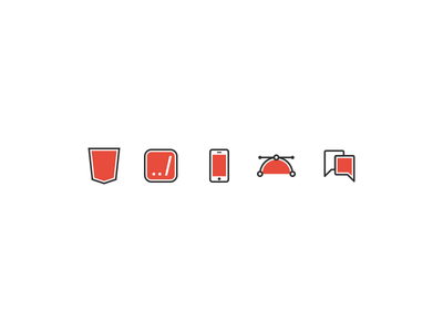 Icons design web illustration illustrator marketing graphic backend frontend html5 mobile red icons