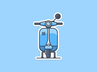 Vespa Sticker for free