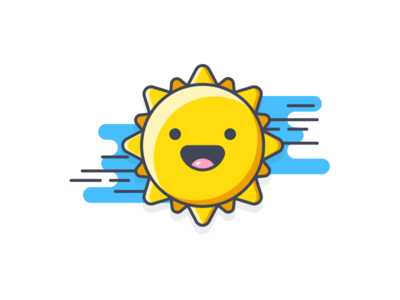 Sunny day! empty state icon sun color vector illustration