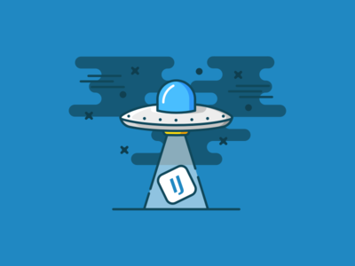 U.F.O empty state icon ufo ovni color vector illustration