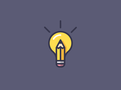 Icon idea bulb pencil vector design illustration icon