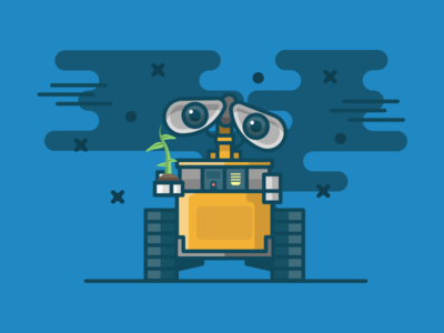 Wall-e plant robot vector design illustration icon