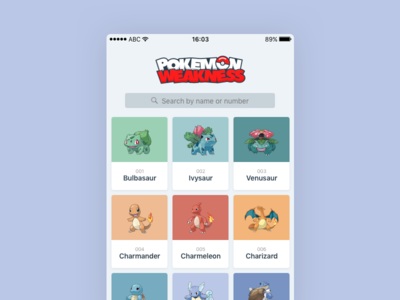 Pokémon Weakness database pokemons pokeball pokemon logo icon design app