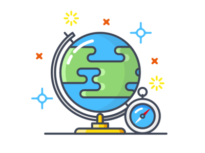 Location compass point location earth vector design illustration icon