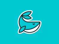 Whale concept illustration design animal logo
