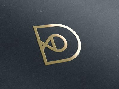 DD Gold Emboss Logo Mockup
