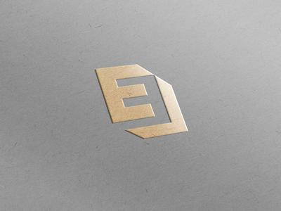 EE Emboss Logo Mockup