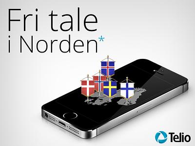 """""""Fri tale i Norden"""" - Telio fri tale i norden telio iphone 5s nextgentel open sans"""