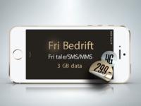 Fri Bedrift + 3 GB