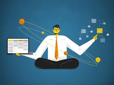 Project Management manager businessman blog management workplace people illustration flat blog graphic business project management
