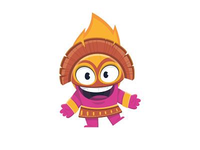 Lucky Java cartoon vector flat illustration lucky java volcano fire cartoon character character design character mascot character mascot design mascot casino games casino art casino