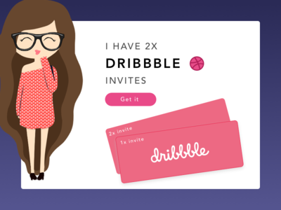 DRIBBBLE INVITES!! shots invites cheers design ux ui