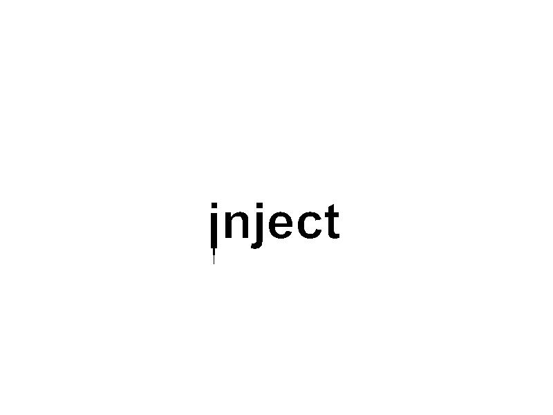 inject minimal branding design illustrator vector lettering identity illustration icon typography type logo