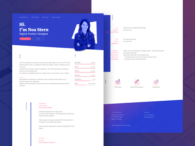 Personal resume resume personal portfolio cv branding