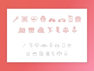 Icons Redesign ui design minimal icons iconography icon