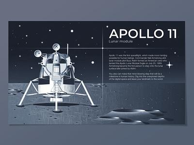 apollo 11 starship spaceship apollo 11 apollo flare stars space lunar module lunar eagle moon landing moon grungy textured illustration