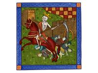 Сhronicle of Сoronavirus. Horseman of the Apocalypse coronavirus portrait graphic drawing illustraion art horseman red horse pandemic fresco epidemic biohazard