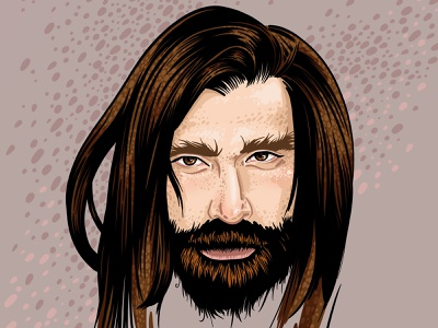 My treasure husband hippie facebook man graphic drawing art face illustration portrait