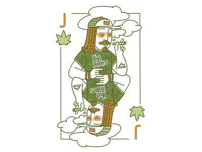 Jack branding cannabis marijuana hemp cards man graphic face drawing art portrait illustration