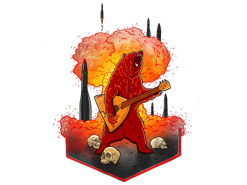 Future of Russia skull apocalypse cold war rocket bang war nuclear red bear putin politics russia