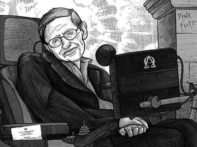 Portrait of Stephen W. Hawking
