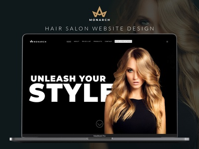 Monarch Hair Salon Website Design
