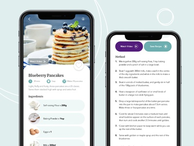 Recipe Card App Design