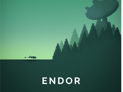 Star Wars inspired Endor Poster Art