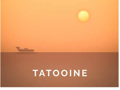Star Wars inspired Tatooine Poster Art
